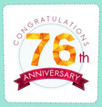colorful polygonal anniversary logo 3 076 vector image vector image