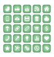 communication icons web set internet collection vector image vector image