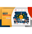 concept best employee who gives best vector image vector image