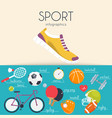 concept of sport infographics icons for web vector image vector image