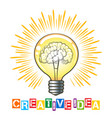 creative idea concept vector image