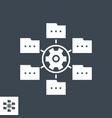 data menagement glyph icon vector image