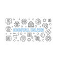digital brain concept horizontal outline vector image vector image
