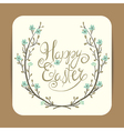 easter greeting with spring wreath vector image vector image