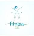 Fitness ans sport girls icons vector image
