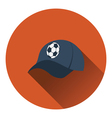 Football fans cap icon vector image vector image