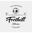 Football Soccer Hand lettering badges and labels vector image