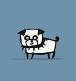 funny pug dog sketch for your design vector image