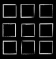 grunge frames isolated white square borders vector image vector image