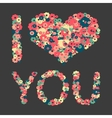 Grunge heart with text I love you vector image vector image
