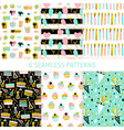 happy birthday seamless patterns vector image vector image