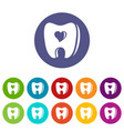 healthy tooth icon simple style vector image vector image