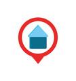 house pin gps map and navigation vector image