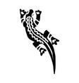 iguana icon aztec vector image vector image
