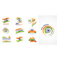 indian republic day concept design banner poster vector image vector image