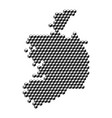 ireland map from 3d black cubes isometric
