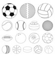 isolated object of sport and ball icon collection vector image