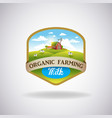 label with the image of a farm vector image vector image
