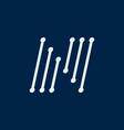 letter n font maze italic geometric vector image