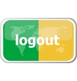logout word on web button icon isolated on vector image vector image