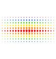 man head profile spectrum halftone array vector image vector image