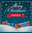 merry christmas and happy new year artwork vector image vector image