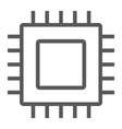 microchip core line icon electronic and digital vector image vector image