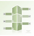 modern template in form a box vector image vector image