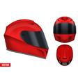 motor racing helmet with glass visor vector image vector image