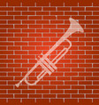 musical instrument trumpet sign whitish vector image vector image