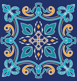ornament for ceramic tile vector image