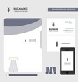 pen business logo file cover visiting card and vector image vector image