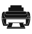 photo printer icon simple style vector image