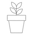 plant in pot icon vector image vector image