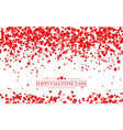 realistic isolated heart confetti vector image vector image