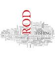 rod word cloud concept vector image vector image