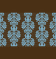 seamless damask pattern blue and brown colors vector image