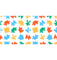 seamless pattern with puzzle vector image