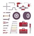 Set of car toolls vector image vector image