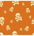 Skull Pattern Orange vector image vector image