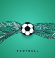 Soccer ball banner with background Football euro vector image