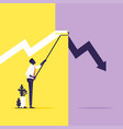 solve problem-crisis management metaphor vector image vector image