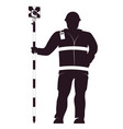 surveyor in uniform with a working tool vector image