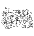 Thanksgiving hand draw doodle art vector image vector image