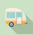 travel trailer icon flat style vector image vector image