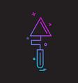 trowel icon design vector image vector image