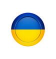 ukrainian flag on the round button vector image