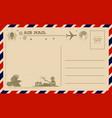 vintage halloween postcard vector image