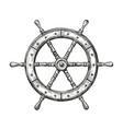 wooden ship wheel sailing nautical concept vector image
