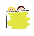 children with school board vector image